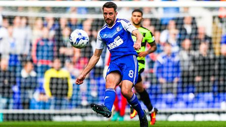 Cole Skuse in action for Ipswich Town. Picture: Steve Waller www.stephenwaller.com