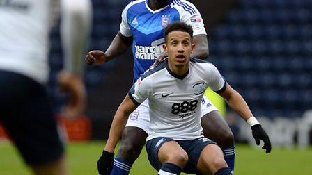 Toumani Diagouraga made his first senior appearance in six months at Preston on Saturday. Photo: PAG
