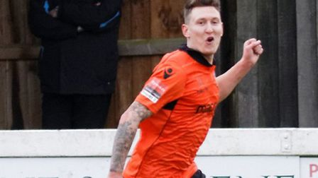 Christy Finch celebrates his first goal