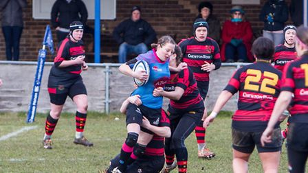 Claire Brickley in action for Woodbridge Amazons