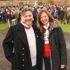 Mat Bayfield's 'Walk and Talk' fundraising walk for The Brain Tumour Charity on Sunday from Glemham