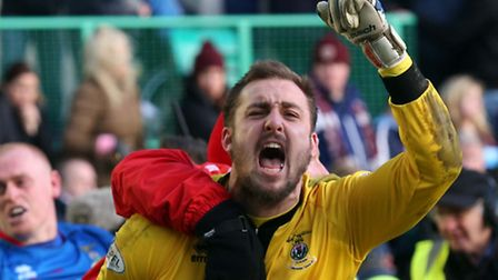 Dean Brill, who has signed for the U's today, celebrates after his Inverness side beat Hearts in a S