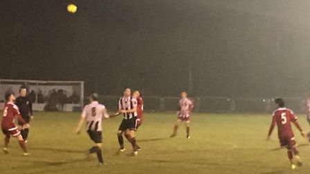 Anyone know where the ball is? Action from Bowers & Pitsea and Heybridge Swifts at the Len Salmon St