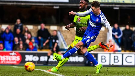 Tom Lawrence fires Town into the lead for the second time making the score 2-1 in the Ipswich Town v