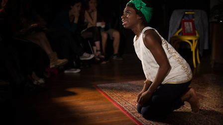 Apphia Campbell as Nina Simone in the play Black Is The Colour of My Voice