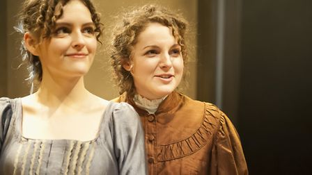 Annabelle Terry as Isabella and Eva Feiller as Catherine Morland in Bury Theatre Royal's production