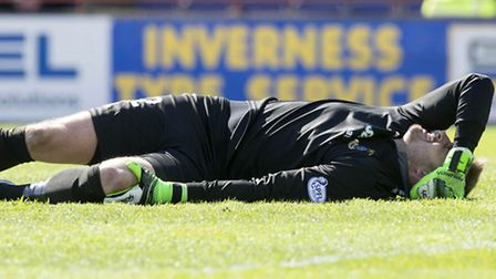 The low point in Dean Brill's career, getting injured while playing for Inverness against Celtic in