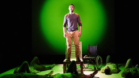 Pink Mist by Owen Sheers, at New Wolsey Theatre, Ipswich, a touring Bristol Old Vic production. Pict