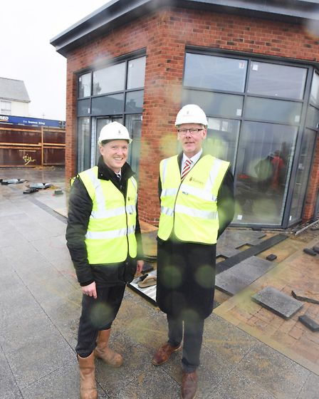 Barnes director Mark Bailey, left, and East of England Co-op joint chief executive Nick Denny at the