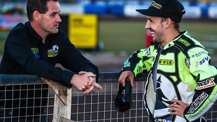 Chris Louis, left and Danny King. One changing the track, the other will be thrashing everyone on it