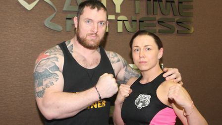 Kerry with her coach Stephen Byerley at Anytime Fitness