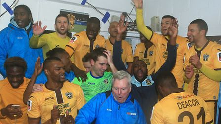 Sutton celebrate after their win over Leeds at the weekend