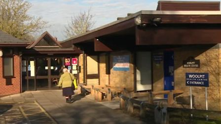 A shot from the video of Woolpit Health Centre