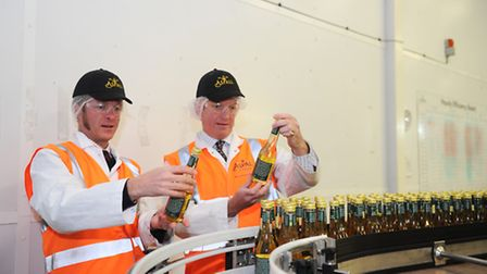 Barry and Henry Chevallier Guild of Aspall Cyder.