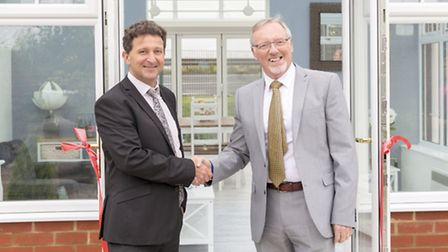 John Savage, left, managing director of SEH BAC with Don Waterworth, founder of the MWCIA. Photo: A