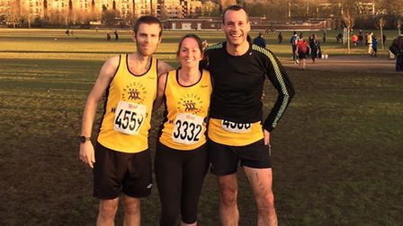 The Halstead RR trio of Wesley Atkins, Sarah Frost and Richard Candler at the South of England Cham