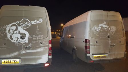 Two more vans given the Ruddy Muddy treatment