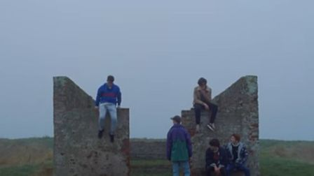 An image from Ed Sheeran's Castle on the Hill video.