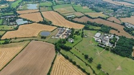 Writtle University College agricultural fields.