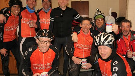 Riders at the Stevenson Centre in Great Cornard, after the CC Sudbury Reliability Rides