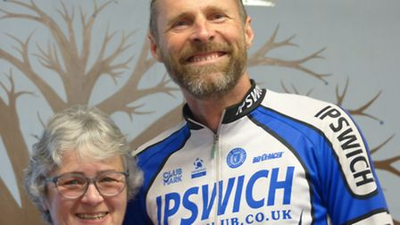 Angus Jardine (Ipswich BC) with SPOCO East Competition Organiser Christine Willmetts at the East Dis