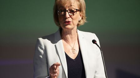 Conservative leadership contender Andrea Leadsom gives a speech on the economy at Millbank Tower, Lo