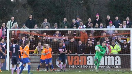Sam Beasant, ensured Braintree kept a clean sheet against Dulwich Hamlet on Saturday. The two clubs