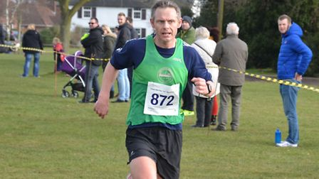 Allen Smalls, of Colchester Harriers, who finished third at the recent 53-12 League meeting at Writt