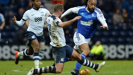 David McGoldrick back fit and strong and looking good for Ipswich Town