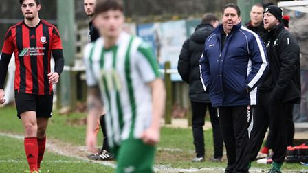 Whitton manager Steve Jay watches from the sidelines at Whitton on Saturday