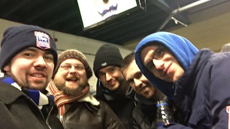 Ipswich Town fans enjoying themselves before the Aston Villa game who sent us this picture using #My
