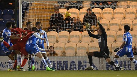 Jimmy Smith equalises for Crawley Town with the first of his hat-trick goals in a 3-2 away win over