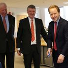 From left, Sir David Walker, chairman of SETL, Peter Randall, chief executive, and Ipswich MP Ben Gu