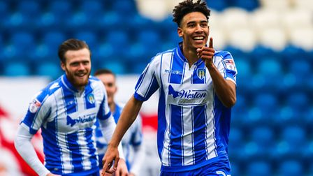 Kurtis Guthrie celebrates his goal in last weekend's 2-1 home win over Barnet. It was his 11th goal