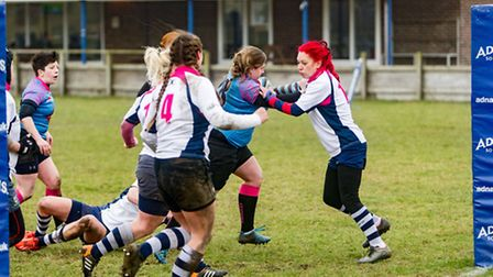 Toni Bell scores her first try for the Amazons