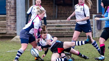 Chelmsford's Grace Stobbs is hit hard by the Amazons