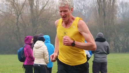 Bob Langley, of Halstead Road Runners, who was first over-60 veteran in this season's Essex League