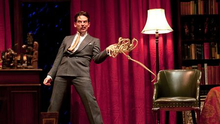 John Dorney as Salvador Dalí in Terry Johnson's classic farce Hysteria which is playing at Bury Thea