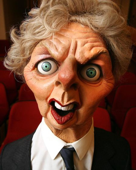 An original Spitting Image puppet of former British Prime Minister Margaret Thatcher which was aucti