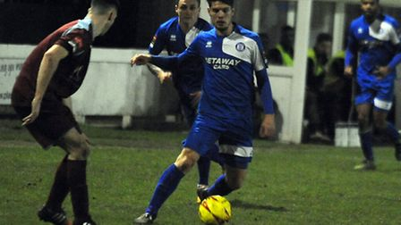 Luke Read was on target for Bury Town