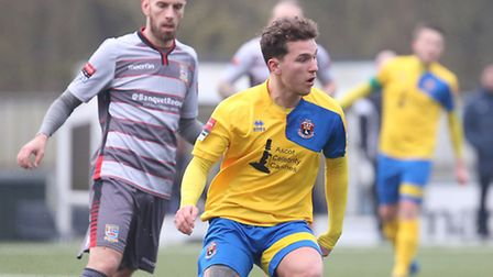 Liam Wales looks to make a pass