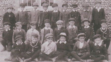 Lads from Great Barton Boys' School in 1913