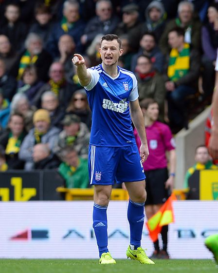 Tommy Smith on as a sub at Carrow Road in the East Anglian Derby on February 26. Picture: Pagepix
