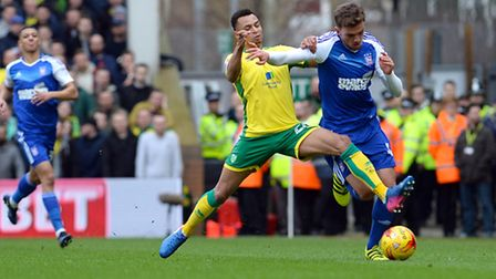 Emyr Huws is sent flying by Jacob Murphy Picture Pagepix