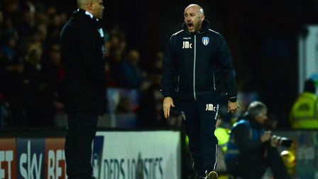 U's boss, John McGreal, right, shows his frustration during the midweek 1-0 defeat at Grimsby last