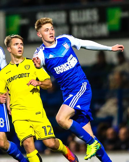 Teddy Bishop has made just two cameo appearances for Ipswich Town's first team in 2017. Picture: Ste