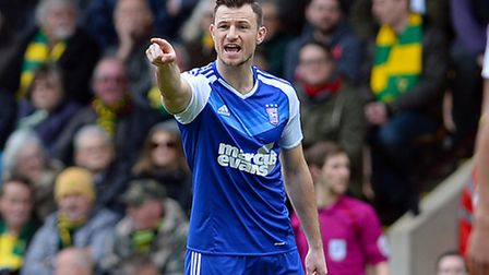 Tommy Smith, pictured back in the Ipswich Town team at Norwich on Sunday. Photo: PAGEPIX