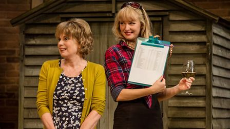 Julia Hills and Elizabeth Cadwallader in Worst Wedding Ever, a new stage comedy by Chris Chibnall