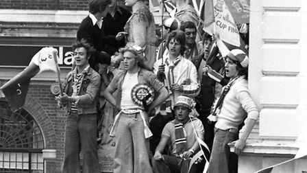 Ipswich Town Fans on top of Post OfficeMay 1978 FA Cup