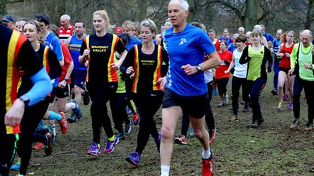 The Suffolk Winter League cross country meeting held at Nowton Park, Bury St Edmunds on Sunday.